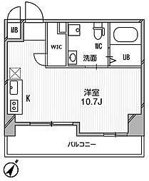 リエス千葉新宿[4階]の間取り