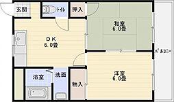 西町コーポ[2階]の間取り