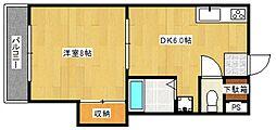 シャトレ東合川[5階]の間取り