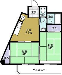 阪急西九条マンション[4階]の間取り