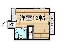 水木北野シルクハイツI[4階]の間取り