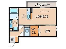 D-room吹屋町B棟[1階]の間取り