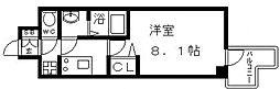 プレサンス谷町九丁目駅前 9階1Kの間取り