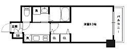 レグゼスタ京都駅西[4階]の間取り