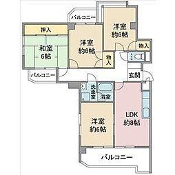 サンシティ小幡[2階]の間取り