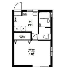 ウッドサイド ジンダイ アヅマ[1階]の間取り