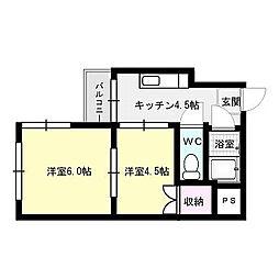 フォレステーション室見[3階]の間取り