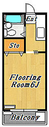 FUJIコーポ[2階]の間取り
