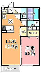 仮)D−room平須町[101号室]の間取り