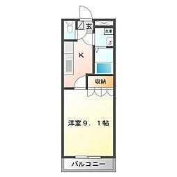 三重県鈴鹿市高岡台3の賃貸アパートの間取り