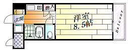 アルファ千里丘[1階]の間取り