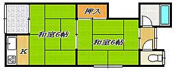 [タウンハウス] 大阪府大東市御供田4丁目 の賃貸【/】の間取り