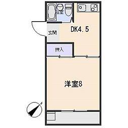 愛知県岡崎市美合町字入込の賃貸アパートの間取り