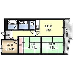 高槻センチュリーマンション[4階]の間取り