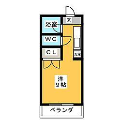 コーポセブンI[3階]の間取り