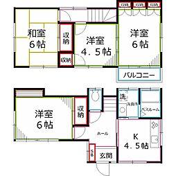 [一戸建] 東京都小平市学園西町2丁目 の賃貸【/】の間取り