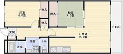 パナグレープ[4階]の間取り