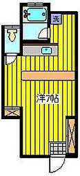 埼玉県川口市中青木3丁目の賃貸アパートの間取り