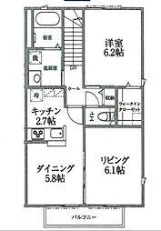 パークナード横濱[201号室号室]の間取り