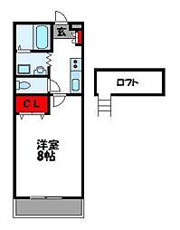 ルート門松駅I[1階]の間取り