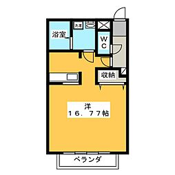 VISAGE笠原[3階]の間取り