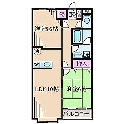 神奈川県川崎市中原区井田三舞町の賃貸マンションの間取り