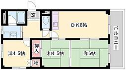 ムサシノハイツ[2階]の間取り
