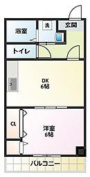 パパノエル[3階]の間取り