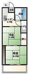 大竹コーポA[101号室]の間取り