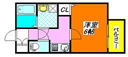 パレスハナテンIV 102号室[1階]の間取り