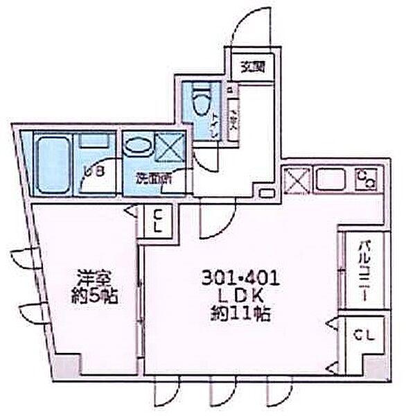 ピークサイドレジデンス早稲田[3階]の間取り