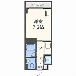 メープル北円山[9階]の間取り