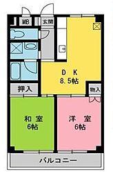 野島ビル[302号室]の間取り