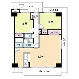 フォレステージュ武庫之荘[2階]の間取り