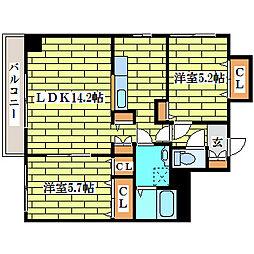 フェニックス真栄[8階]の間取り