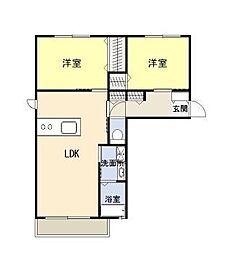シルフィードKN II[1階]の間取り