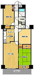 埼玉県北本市二ツ家1丁目の賃貸マンションの間取り
