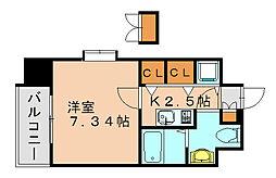 サヴォイ博多ブールバール[11階]の間取り