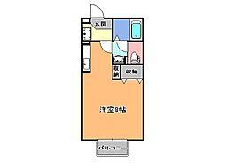 サトスガーデン[1階]の間取り