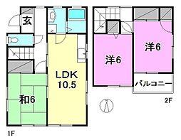 [一戸建] 愛媛県松山市南吉田町 の賃貸【/】の間取り