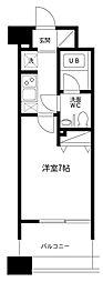 レジディア島津山[4階]の間取り