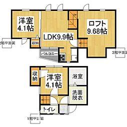 CB 博多 カルネ2[2階]の間取り