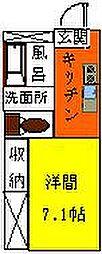 長野県松本市大字南浅間の賃貸マンションの間取り