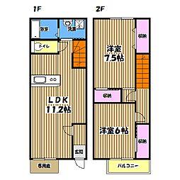 [テラスハウス] 東京都青梅市梅郷6丁目 の賃貸【東京都 / 青梅市】の間取り