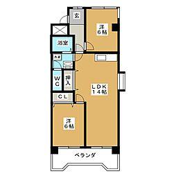 コーポナリタ[2階]の間取り
