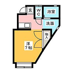 メロディハウス[2階]の間取り