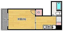 シルバー高砂[3階]の間取り