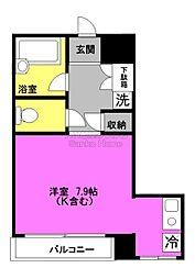 東京都中央区日本橋富沢町の賃貸マンションの間取り