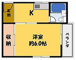 シャトーヨド[1階]の間取り
