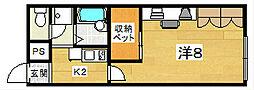 レオパレスプランタン参番館[1階]の間取り